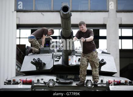 Renaming of Army's armoured division - Stock Photo