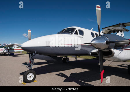 Beechcraft Super King Air 200, Wings over Springbank, Springbank Airshow, Alberta, Canada - Stock Photo