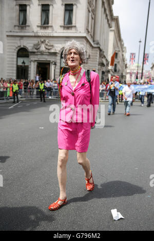 London, UK  25th June, 2016. Pride in London parade. Copyright Carol Moir/Alamy Live News. - Stock Photo