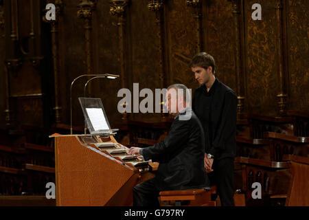 Montserrat, Barcelona, Spain. 25th June, 2016.The 6th international festival of the organ of Montserrat with Olivier - Stock Photo