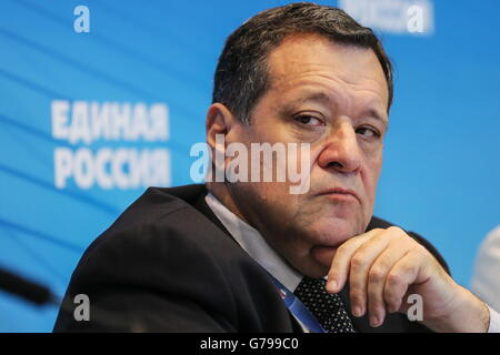 Moscow, Russia. 26th June, 2016. Russian State Duma member Andrei Makarov at the 15th Congress of the Yedinaya Rossiya - Stock Photo