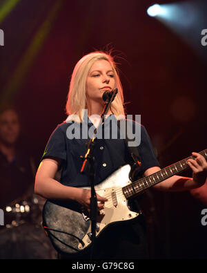 Ottawa, Canada - June 25, 2016:  Molly Rankin, lead singer of the indie pop band Alvvays that topped the US college - Stock Photo