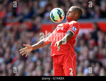 Liverpool's Glen Johnson. PRESS ASSOCIATION Photo. Picture date: Sunday August 17, 2014. See PA story . Photo credit - Stock Photo