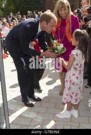 Royal visit to Oxford - Stock Photo