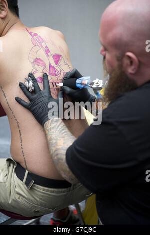 10th London International Tattoo Convention - Stock Photo