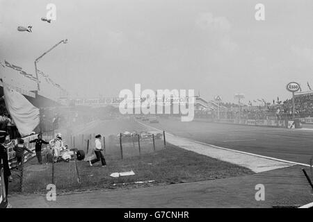 Motor Racing - British Grand Prix - Formula One - Andrea de Cesaris - Silverstone - Stock Photo