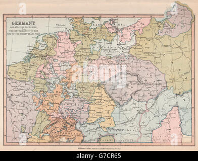 GERMANY From The Reformation To The End Of The Thirty Years War - Map germany thirty years war
