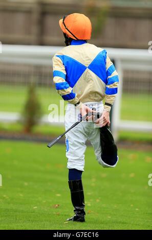 Horse Racing - Leicester Racecourse - Stock Photo