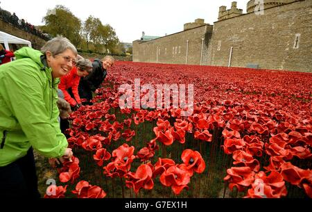 Blood Swept Lands and Seas of Red installation - Stock Photo