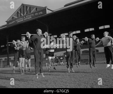 Soccer - League Division Two - Fulham - Training - Jimmy Hill - Craven Cottage - Stock Photo