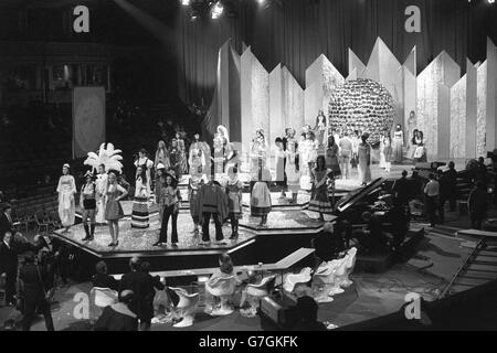 Miss World 1969 - Rehearsal - Royal Albert Hall, London - Stock Photo