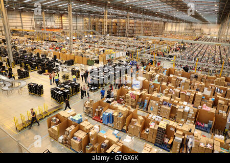 Amazon UK Fulfilment Centre - Peterborough - Stock Photo