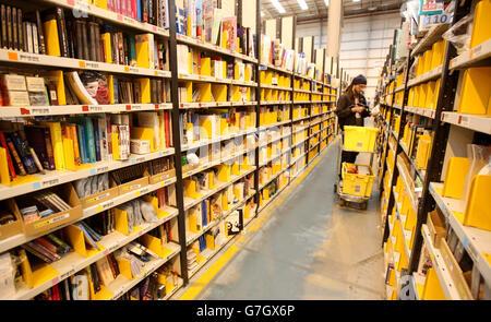Amazon UK Fulfilment Centre - Peterborough - Stock Photo