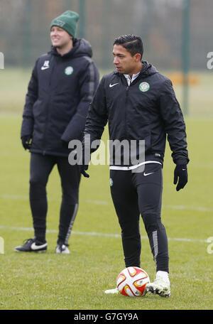Soccer - UEFA Europa League - Group D - Celtic v FC Salzburg - Celtic Training Session - Lennoxtown Training Centre - Stock Photo