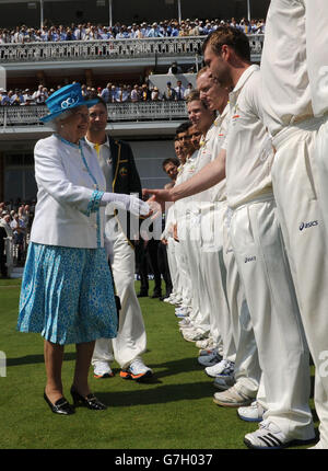 Cricket - Second Investec Ashes Test - England v Australia - Day One - Lord's - Stock Photo