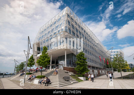 Modern headquarters of Unilever in Hafencity Hamburg Germany - Stock Photo