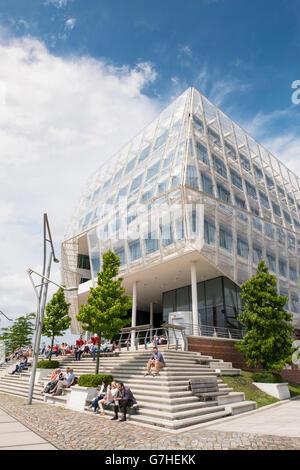 Modern headquarters of Unilever in Hafencity Hamburg Germany - Stock Photo