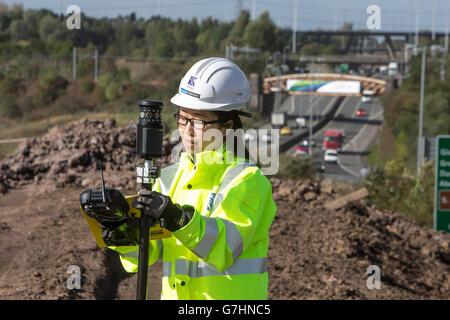 Chinese woman surveyor on location