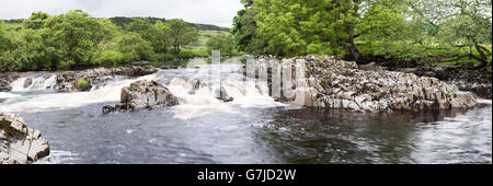 The River Tees between Low and High Force, Teesdale, County Durham, England, UK - Stock Photo