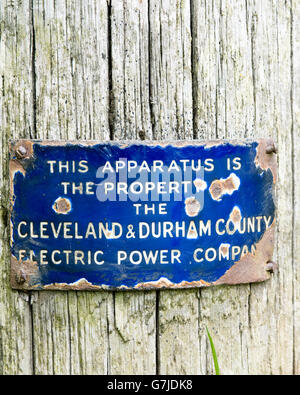 County Durham Sign Stock Photo Royalty Free Image