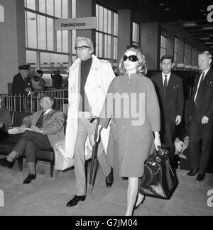 Entertainment - Anita Ekberg - Heathrow Airport, London - Stock Photo