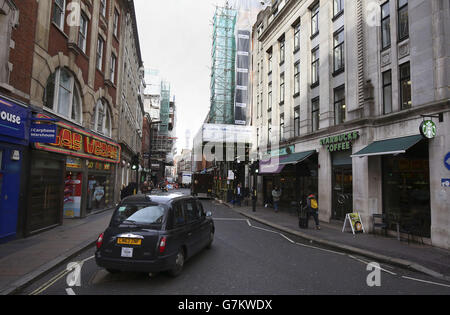 Soho stock - London - Stock Photo