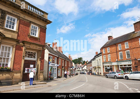 Main Street And Market Place Market Bosworth Leicestershire UK - Stock Photo
