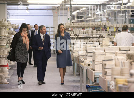 Duchess of Cambridge visit to West Midlands - Stock Photo