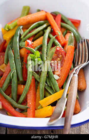 Grilled vegetables in a pan - Stock Photo