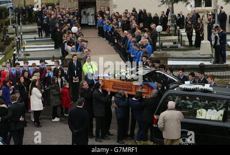 Oisin McGrath funeral - Stock Photo