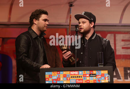 NME Awards 2015 with Austin Texas - London - Stock Photo