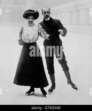 Figure Skating - London Olympic Games 1908 - Pairs - Stock Photo
