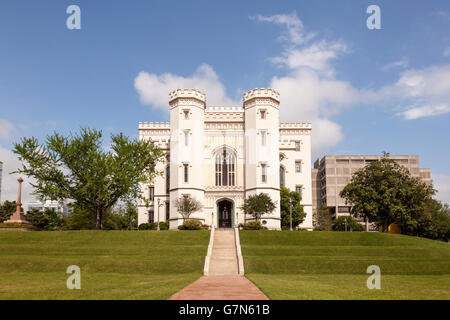 Old State Capitol in Baton Rouge, Louisiana - Stock Photo