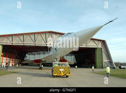 Concorde - Airspace Exhibition - The Imperial War Museum - Stock Photo