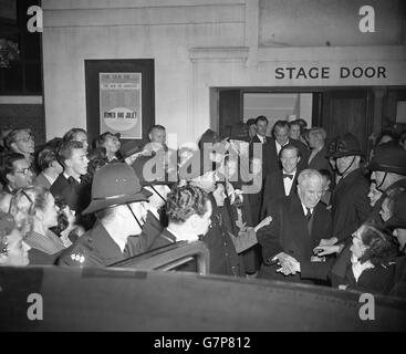 Entertainment - Charlie Chaplin in London - Old Vic Theatre, London - Stock Photo