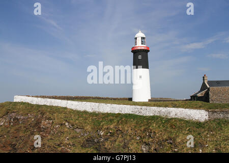 The East Lighthouse  on Rathlin Island, County Antrim, Northern Ireland. - Stock Photo