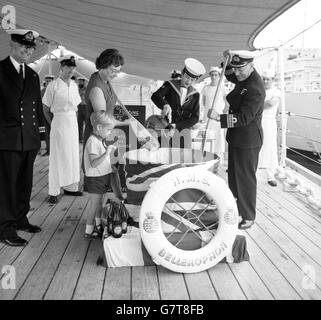 Military - Royal Navy Last Rum Rations - HMS Belfast, Portsmouth - Stock Photo