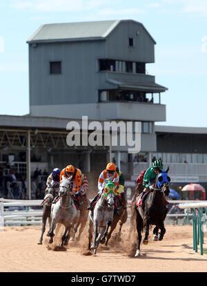 Horse Racing - Southwell Racecourse - Stock Photo