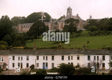 Buildings and Landmarks - Britannia Royal Naval College - Dartmouth - Stock Photo