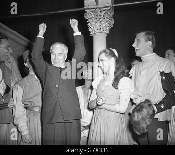 Entertainment - Charlie Chaplin in London - The Old Vic Theatre, London - Stock Photo