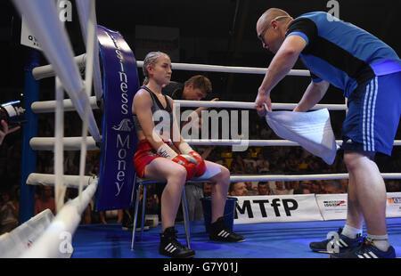 Usti Nad Labem, Czech Republic. 25th June, 2016. Fabiana Bytyqi (photo with her coach Lukas Konecny) from Czech - Stock Photo