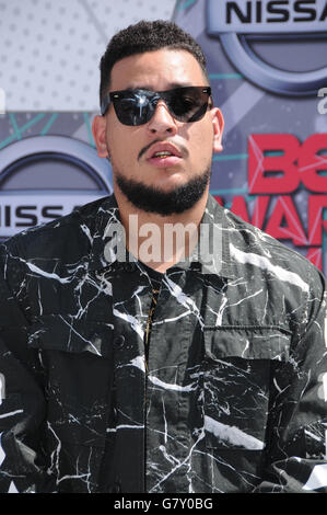 Los Angeles, California, USA. 26th June, 2016. AKA. Arrivals for the 2016 BET Awards held at the Microsoft Theater. - Stock Photo