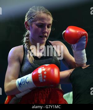 Usti Nad Labem, Czech Republic. 25th June, 2016. Fabiana Bytyqi (photo) from Czech Republic defeats Teodora Bacheva - Stock Photo