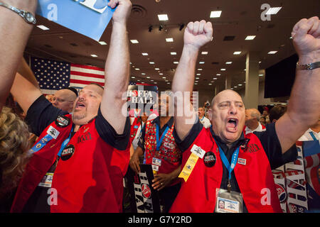 Las Vegas, Nevada USA - 27th June 2016 - As the Teamsters Union begins its quinquennial convention, reformers are - Stock Photo