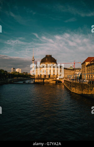 Berlin, Germany. 27th June, 2016. The Berlin TV Tower and Bode Museum, June 27, 2016. Photo: picture alliance/Robert - Stock Photo