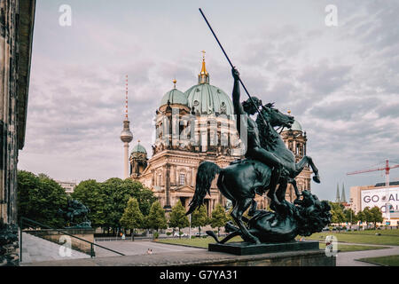 Berlin, Germany. 27th June, 2016. The Berlin Cathedral, TV Tower and the Old Museum, June 27, 2016. Photo: picture - Stock Photo