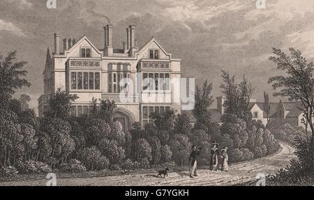 REGENT'S PARK. St Katharine's Hospital (Herbert Taylor). London. SHEPHERD, 1828 - Stock Photo