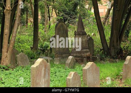 Venice, Jewish cemetery in Lido di Venezia - Stock Photo