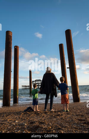 Brighton beach, England - Stock Photo