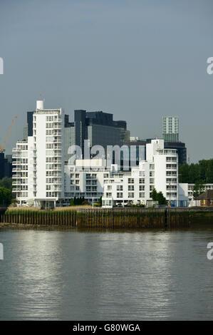 Canary Wharf, Docklands, East London, United Kingdom - Stock Photo